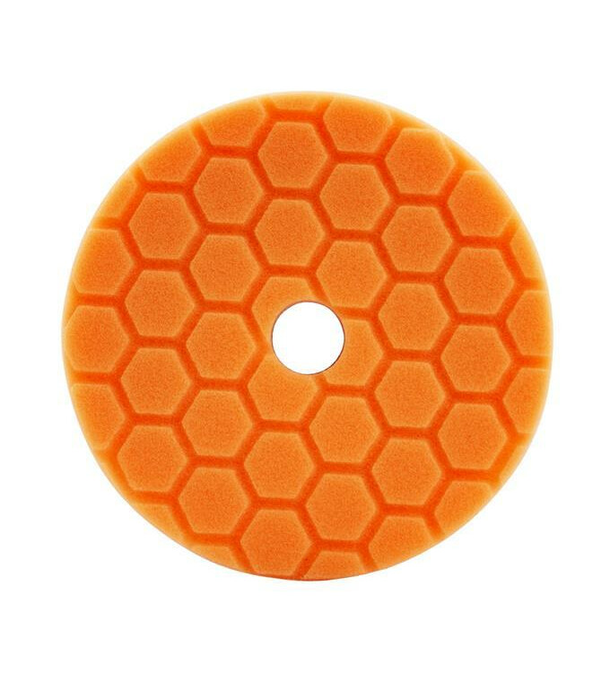 Chemical Guys Hex-Logic Quantum Polierschwamm Medium Cutting Orange 5,5