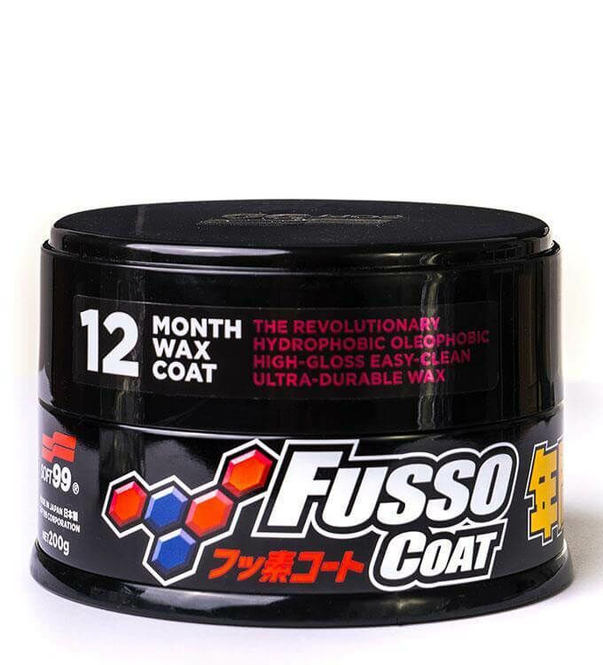 Soft99 New Fusso Coat 12M Wax Dark 200g + Rain Drop Bazooka 300ml