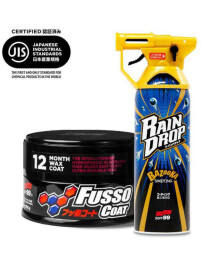 Soft99 New Fusso Coat 12M Wax Dark 200g + Rain Drop...