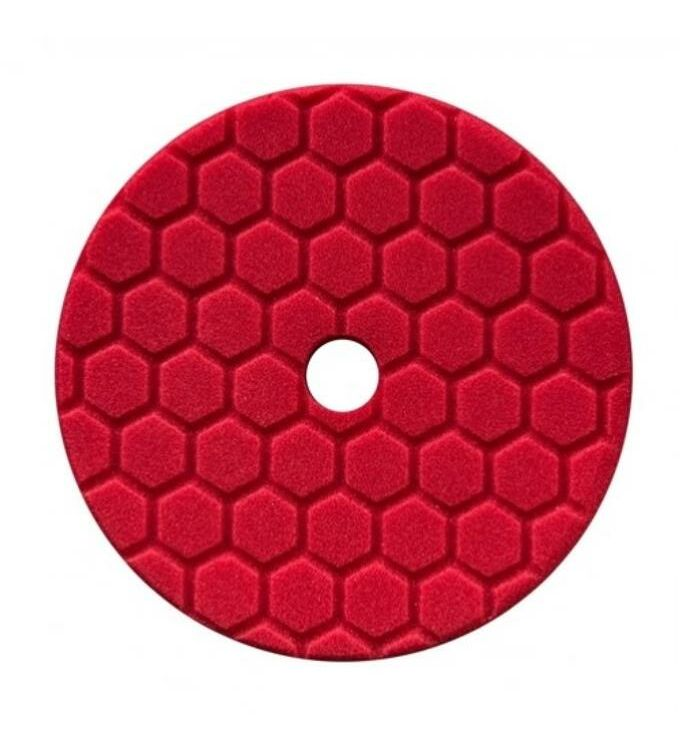 Chemical Guys Hex-Logic Quantum Polierschwamm Finesse Finishing Rot 5,5
